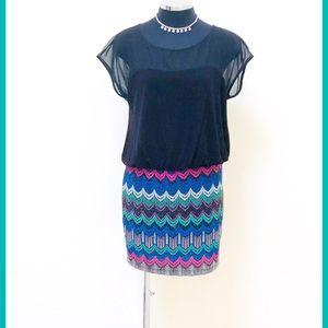 Slinky & Fun 80's vibe minidress: flare & fit !!😊